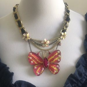 Like New Vintage Betsey Johnson Butterfly Necklace